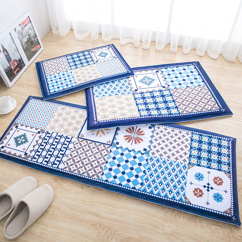 45X60 + 50X80 + 45X120 CM/Set absorber l'eau tapis de cuisine accueil entrée/couloir paillasson anti-dérapant salle de bain tapis vestiaire tapis