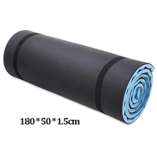 180*50*1.5 cm único exercício ao ar livre dormir acampamento yoga esteira de fitness almofada do agregado familiar pilates em casa ginásio treinamento dobrável almofada