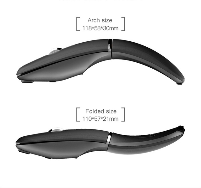 2.4G Wireless/Bluetooth 2 in 1 Mouse Portable Computer 1600 DPIOptical Mouse Foldable Mouse Mini Fold Mice for Laptop PC Desktop