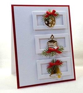 Image 2 - Manualidad de cerdito troqueles de corte de metal Plantilla de corte 8 Uds decoración navideña manualidades de papel de álbum de recortes cuchillo molde de cuchilla perforadora de plantillas die