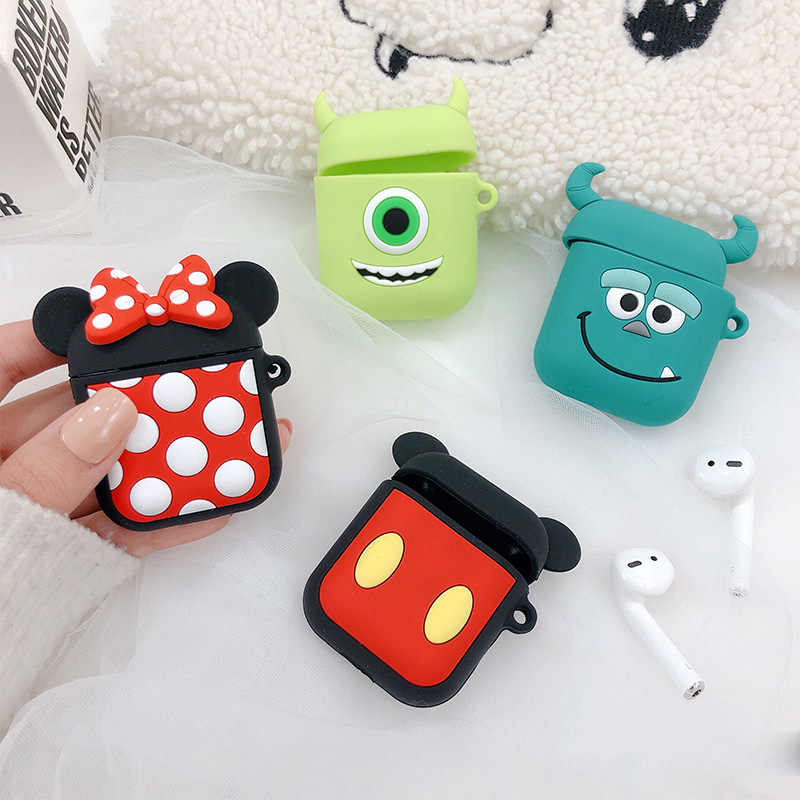New Cartoon Wireless Bluetooth Earphone Case For Apple AirPods Silicone Charging Headphones Cases For Airpods Protective Cover