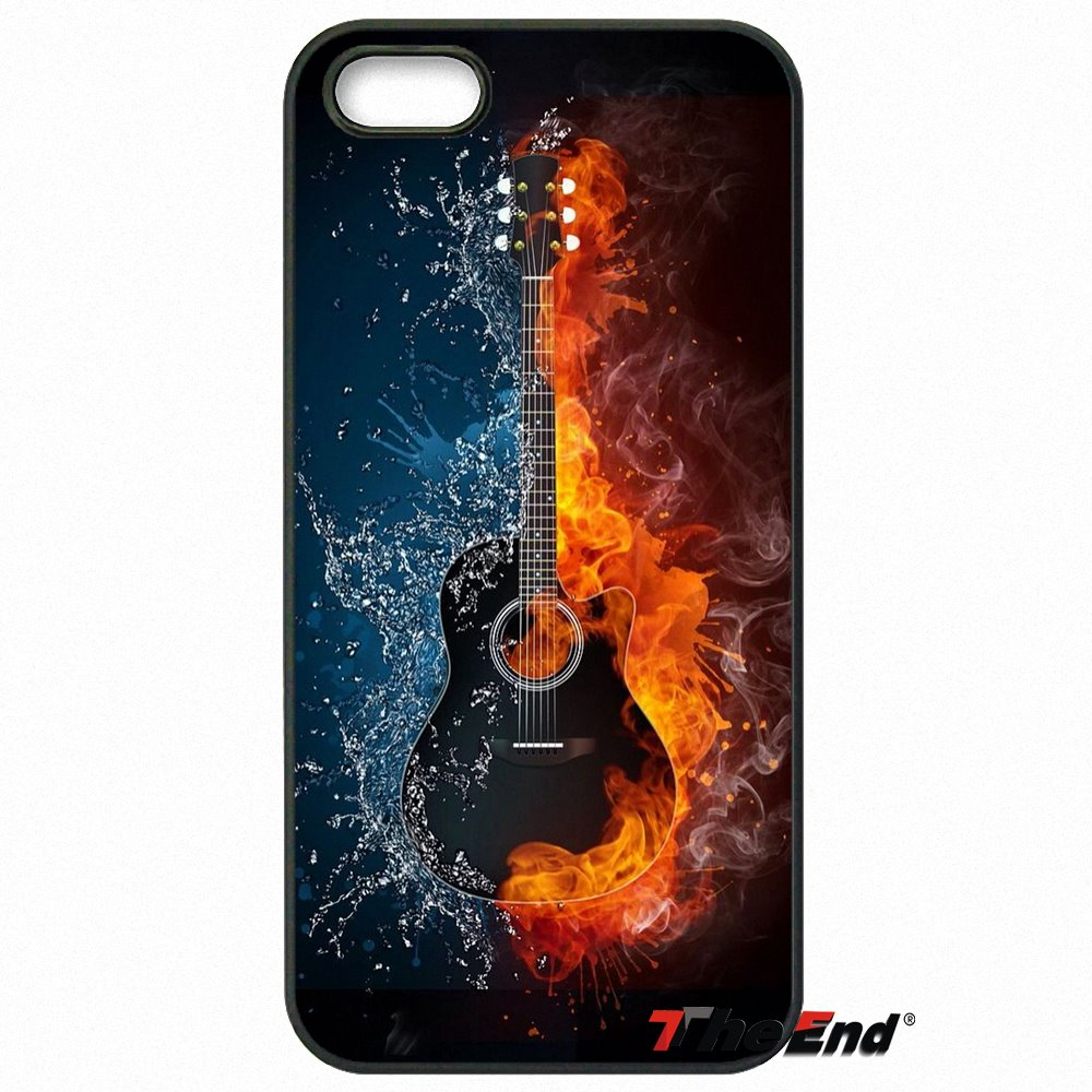Popular Water And Fire Guitar Artwork Case Cover For HTC One M7 M8 M9 A9 Desire 626 816 820 830 Google Pixel XL One Plus X 2 3