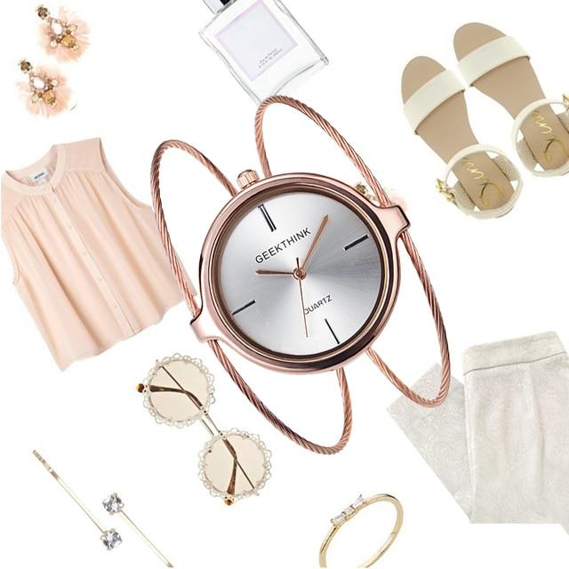 Fashion Simple Women Bracelet Watch Ladies Casual Quartz Dress Women Watches Gold Silver Female Clock Relogio Feminino Saat
