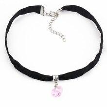 17KM 6 Color Heart Velvet Choker Necklaces & Pendants