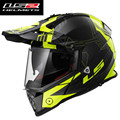Rally New LS2 helmet motorcycle helmet dual lens -MX436 professional road racing off-road full-face helmet ultralight