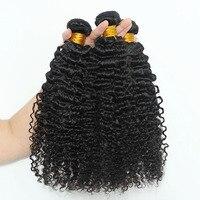 3b3c странный вьющихся волос, плетение Связки 100% Пряди человеческих волос для наращивания 3 шт. Человеческие волосы Связки Sunny Queen Волосы Remy пр
