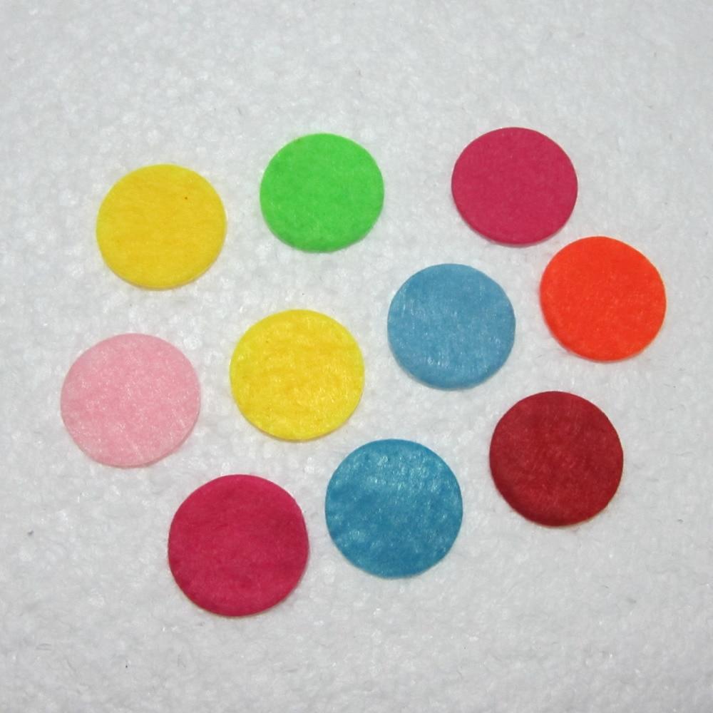200pieces/lot mix color Padded Felt round shape craft/ DIY Appliques Clothing decoration Scrapbook A15A