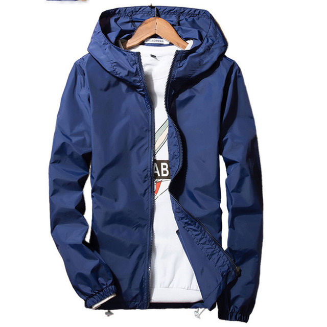 2018 весенне-летний жакет Для мужчин ветровка кожи тонкое пальто куртки Для мужчин с капюшоном повседневные куртки пальто плюс Размеры 5XL 6XL 7xl
