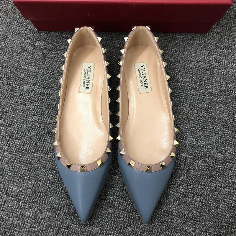 genuine leather shoes women designer shoes women luxury 2018 pointed toe flats women Slip-On High Quality size 34-40genuine leather shoes women designer shoes women luxury 2018 pointed toe flats women Slip-On High Quality size 34-40