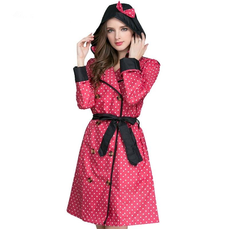 Long Raincoat Women Ladies Rain Coat Women's Rainwear Breathable Outdoor Travel Water Repellent Riding Clothes