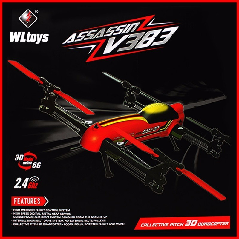 69 X51 X14 CM 100% Original <font><b>WLtoys</b></font> <font><b>V383</b></font> profession drone 500 Electric 3D 6CH RC Quadcopter With Brushless Motor Stunt Drone image