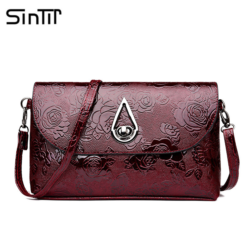 SINTIR Famous Brand Casual Alligator Women Shoulder Messenger Bag High Quality PU Leather Small Flap Crossbody Bags For Women bailar fashion women shoulder handbags messenger bags button rivets totes high quality pu leather crossbody famous brand bag