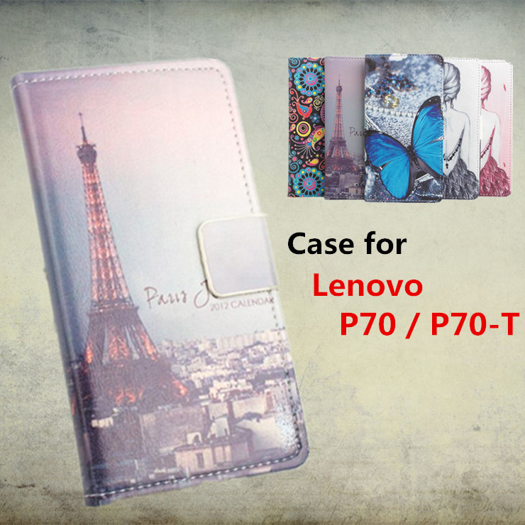 High Quality Leather Case For Lenovo P70 / P70-T Flip Cover Case With Card Slot For Lenovo P 70 T Leather Cover Phone Cases