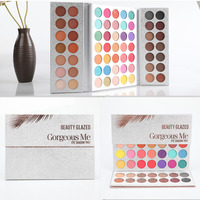 BEAUTY GLAZED Makeup Eyeshadow Palette 63 Color Pressed Glitter Matte Make up Eye Shadow Remastered Eyeshadow Pallete Set
