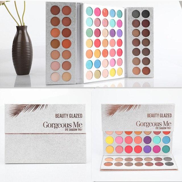 BEAUTY GLAZED Makeup Eyeshadow Palette 63 Color Pressed Glitter Matte Make up Eye Shadow Remastered Eyeshadow Pallete Set