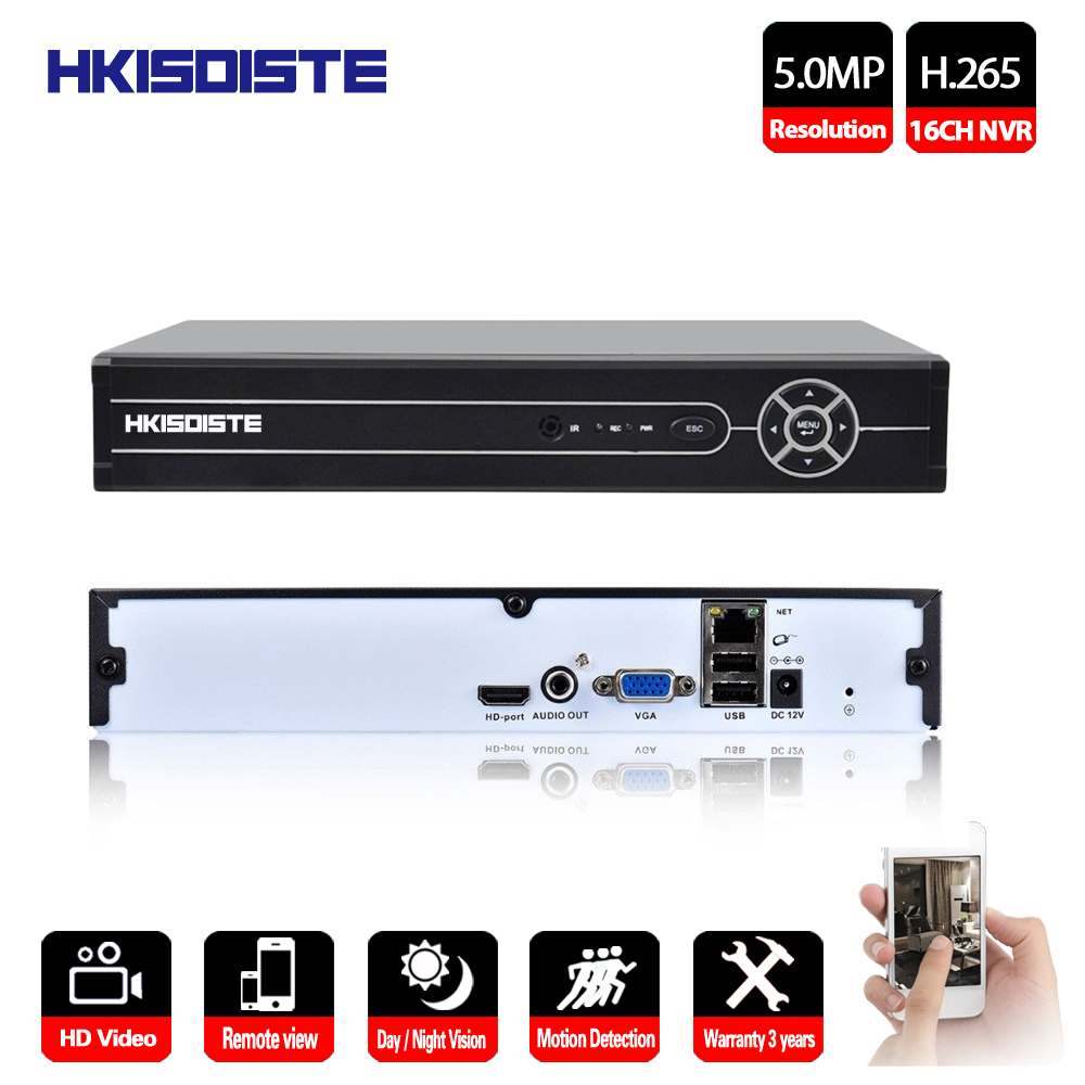 HKIXDISTE 16CH H.265 NVR VGA HDMI Output 4CH 8CH 16CH CCTV NVR 5M 4M 3M 1080P IP Camera System ONVIF 2.0 Home Security System|Surveillance Video Recorder| |  - title=