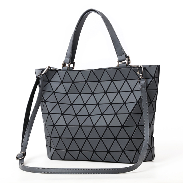 Matte Glowing Geometric Design Women's Shoulder Bag