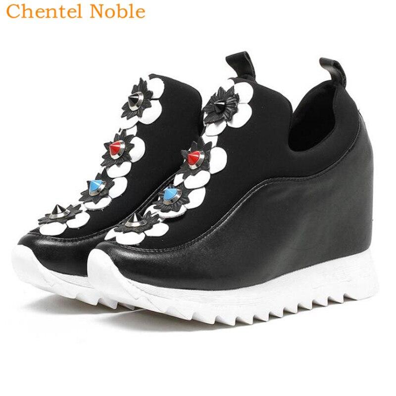 Luxe Mujer Chaussures Zapatos Démissionner Picture Cuir Mode De Rue Marque Nouvelle Occasionnels 2018 Blanc Femme Noir as Appartements Femmes En Sneakers As Picture pZtwqxx5