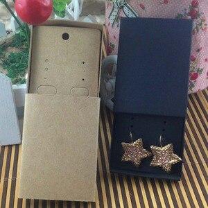 Image 5 - Sieraden kaart 100 stks + 100 pcsbox 7.5*5.4*1.2 cm Gift Hangend Match Oorbel Case, Custom Logo: 1000 stks Kosten Extra Zeep Sieraden Doos