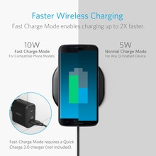 Anker Wireless Charger Charging Pad for iPhone Nexus and Other Devices, Provides Fast-Charging for Galaxy and Note 5 etc