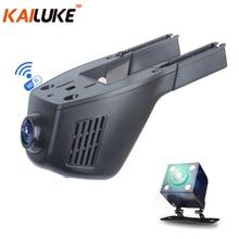 KAILUKE Universal Mini Coche DVR Wifi de La Cámara Del Coche DVR Grabador de Vídeo Monitor Dash Cam Cuadro Negro Videocámara Full HD 1080 P Lente Dual