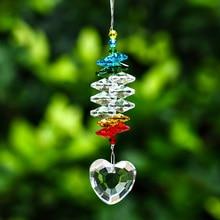 H& D в форме сердца, оконная подвеска, Хрустальная, солнцезащитная, фэншуй, радужная люстра, шаровая призма для дома и сада