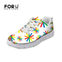 FORUDESIGNS Fashion White Women Casual Shoes, Platform Shoes for Woman Brand,Breathable Womens Walking Shoes tenis feminino