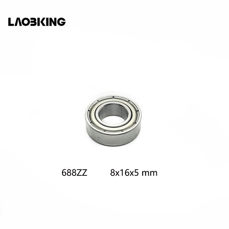 10pcs 688ZZ 688 ZZ 8x16x5mm Metal Double Steel Shielded Ball Bearing Mini Radial Deep Groove Ball Bearings 688z 688 zz 8*16*5 mm