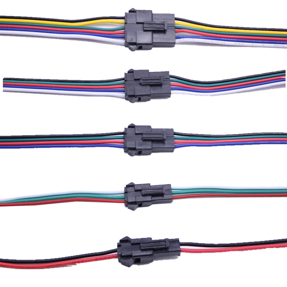 <font><b>2pin</b></font> 3pin 4pin 5pin 6pin led wire <font><b>connector</b></font> <font><b>Male</b></font>/<font><b>female</b></font> JST SM Plug Electronic <font><b>Connector</b></font> Wire cable for led light Driver CCTV image