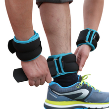 1 4kg/pair Adjustable Wrist Ankle Weights Iron Sand Bag Weights Straps with Neoprene Padding for for Exercise Fitness Running