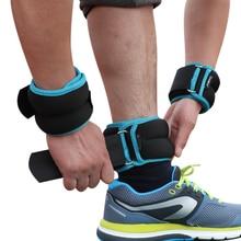 1 4kg/쌍 조정 가능한 손목 발목 무게 철 모래 가방 무게 스트랩 네오프렌 패딩 운동 휘트니스 실행에 대 한