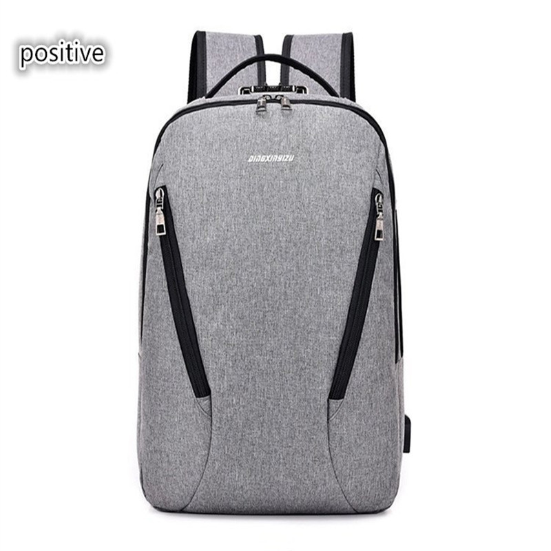 OU BING ZHUO USB charging men's backpack business men's backpack unisex large-capacity computer bag цена