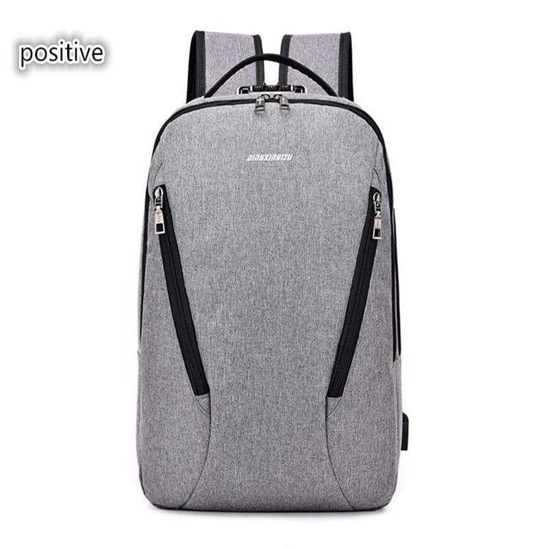 OU BING ZHUO USB charging men's backpack business men's backpack unisex large-capacity computer bag zhuo qi
