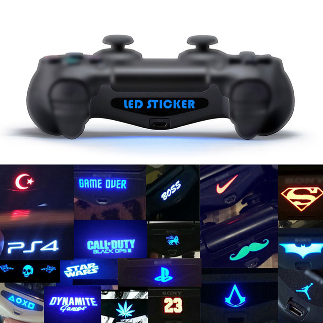 40pcs/lot  LED Light Bar Cover Decal Skin Sticker for PlayStation 4 PS4 Controller 4