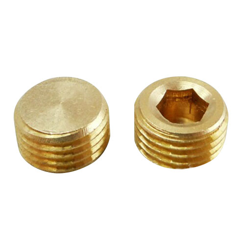5pcs 1/4 inch BSP Male Thread Copper Hex Socket Head Pipe Plug Connector Coupling Adapter