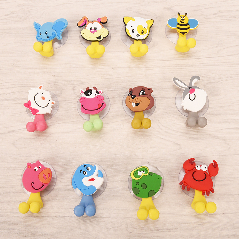 1PC Animal Cute Cartoon Animals Suction Cup Toothbrush Holder Bathroom Accessories Set Wall Suction Holder Tool 12Styles image
