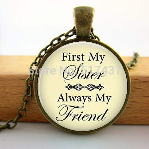 Handcrafted Sister Necklace First My Sister Always My Friend Necklace Sister's Love Jewelry Sister gift Q-0068 image