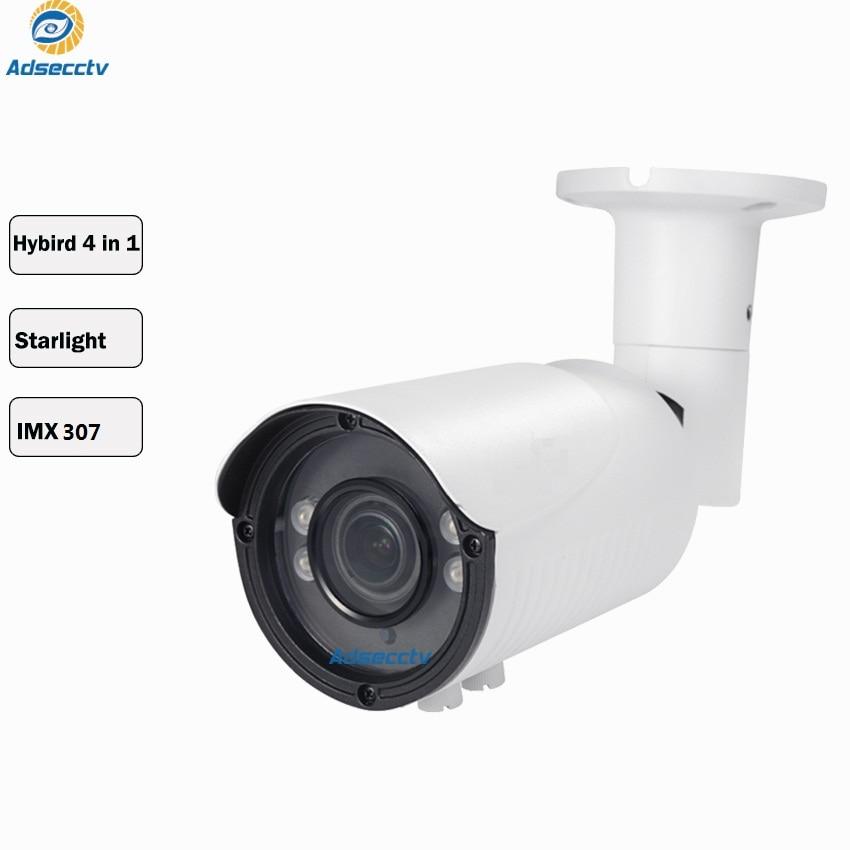 Sony STARVIS Ultra low light CMOS Sensor IMX307 Starlight camera 1080P AHD TVI CVI SVBC Output Waterproof IP66 IR bullet Camera