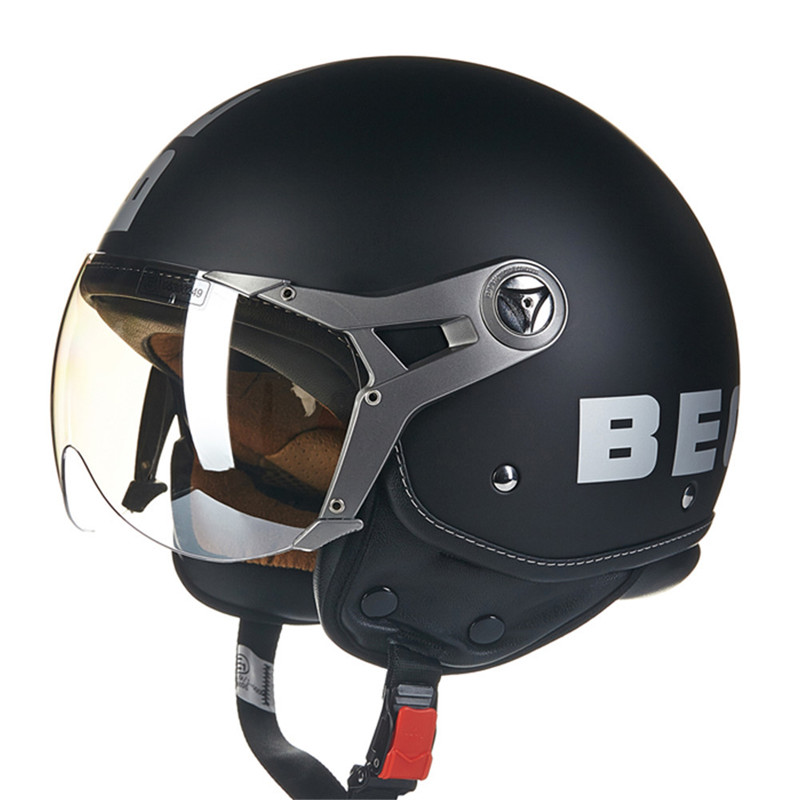 BEON B100 ECE Motorcycle Helmet Chopper 3/4 Open Face Vintage Helmet Moto Casque Casco motocicleta Capacete Moon Unisex helmets gxt dot approved harley motorcycle helmet retro casco moto cascos dirt bike open face vintage downhill helmets for women and men