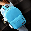 2017 Top Sale new fresh solid high school students backpack schoolbag backpack men and women casual minimalist bag free shipping
