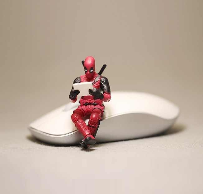 Disney Marvel X-MEN super-Homens Deadpool 2 Postura Sentada Modelo Anime Mini Decoração Boneca PVC Action Figure Coleção Brinquedos Estatueta modelo