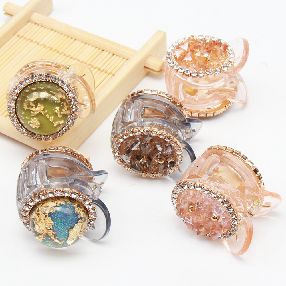 Hair Accessories Crystal Rhinestones Hair Claw Girls Hairpins Chic Hair Crab Hair Clips For Women Tiny Cute Barrettes in Women 39 s Hair Accessories from Apparel Accessories
