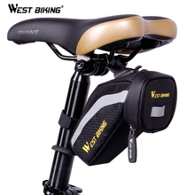 WEST BIKING Bicycle Saddle Bag Cyclling Rear Seat Tail Storage Bag Slight Waterproof MTB Road Bike Rear Top Tube Bicycle Bags