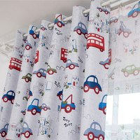 Best Selling Sunproof Curtains Cartoon Car Printed Pastoral Style Curtains For Bedding Room Window Curtains 1