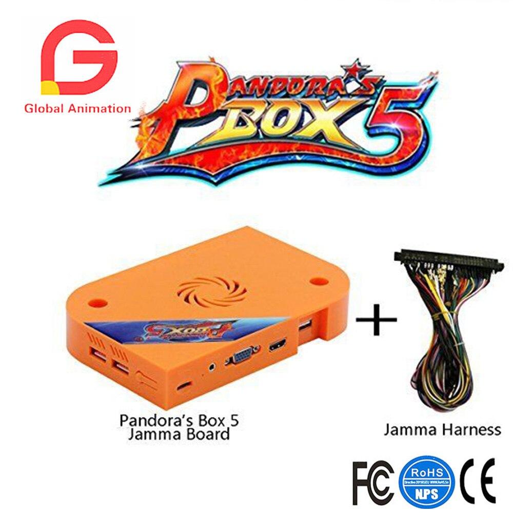 Аркада Pandora's Box 5 Jamma печатной платы с Jamma 960 в 1, 1280x720 Full HD, повышен Процессор и т. д. VGA HDMI Выход