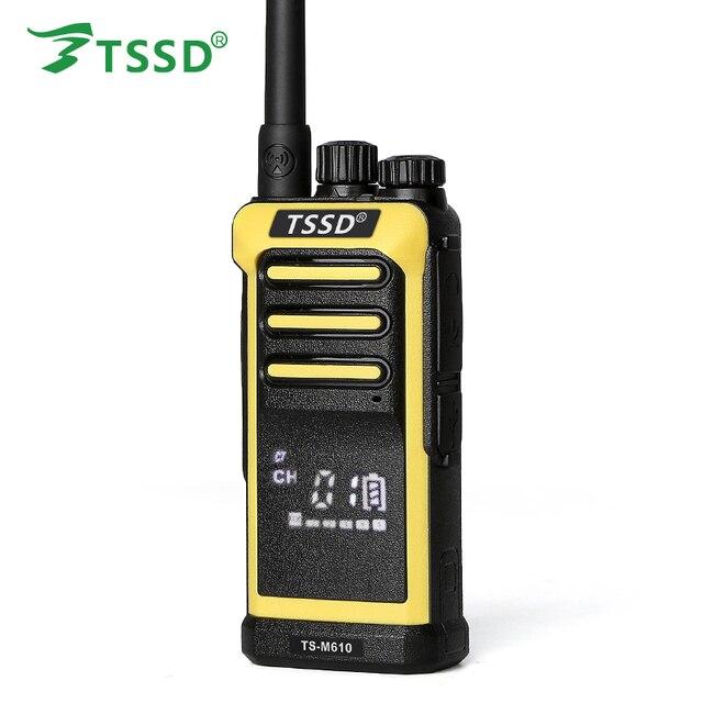 Фирменная Новинка TSSD TS-M610 5 Вт однодиапазонный UHF Ручной Скрытая экран светодио дный LED Professional двухканальные рации