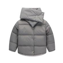 Мальчики осенью и зимой куртка Плед с капюшоном куртки мода Дети теплое пальто детские Толстовки