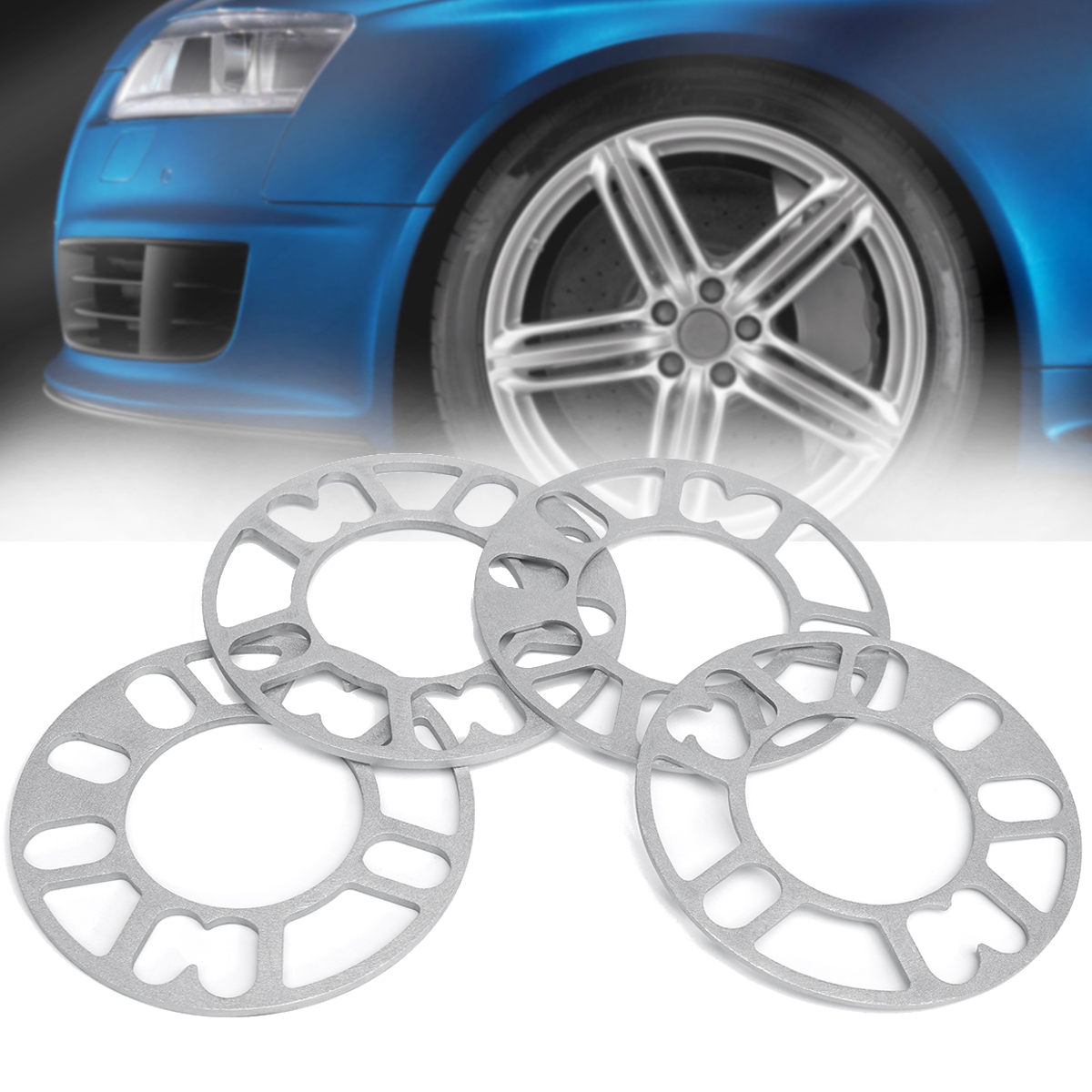4pcs Car <font><b>Wheel</b></font> <font><b>Spacer</b></font> Shims Adjustable 4x98 4x100 4x108 4x114.3 5x100 5x105 5x108 5x112 <font><b>5x114.3</b></font> 5x120 image
