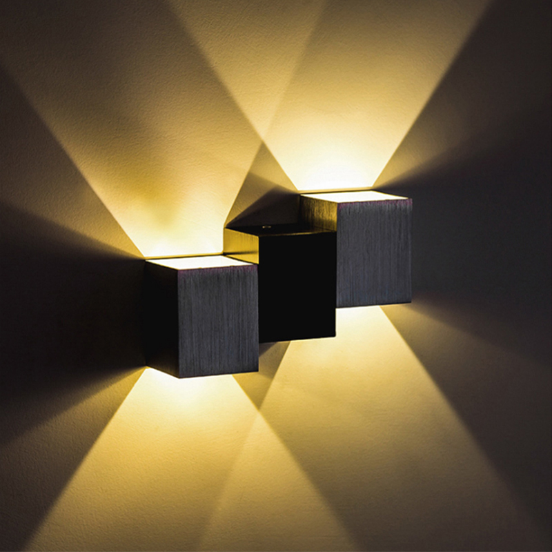 1pce New Modern LED sconce led Wall-Mounted Light Aluminum 6W for Aisle Bedroom Fixture Porch,Background Light free shipping