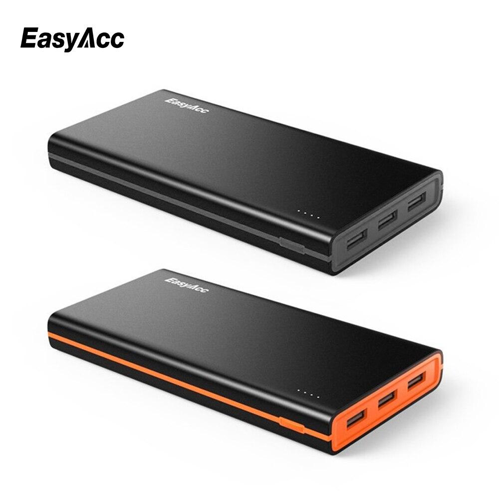 imágenes para EasyAcc 2nd Gen 15000 mAh Banco de la Energía (4.8A Salida Inteligente) Paquete de Batería Externo Portable 3 Puertos USB de Viaje cargador